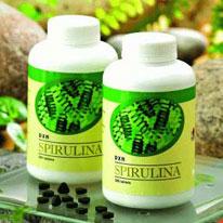 Spirulina-tabletta